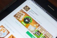 梁赞,俄罗斯- 2018年5月16日:措辞曲奇饼app象或商标在流动apps名单 免版税库存照片