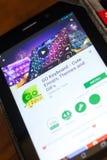 梁赞,俄罗斯- 2018年5月02日:是键盘在片剂个人计算机显示的流动app  免版税库存照片