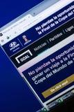 梁赞,俄罗斯- 2018年4月29日:目标网站主页个人计算机, URL -目标显示的  com 免版税库存照片