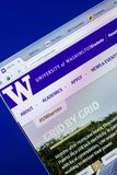 梁赞,俄罗斯- 2018年5月20日:西雅图华盛顿大学网站主页个人计算机, URL -华盛顿显示的  edu 库存图片