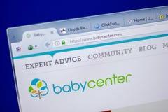梁赞,俄罗斯- 2018年6月05日:BabyCenter网站主页个人计算机, URL - BabyCenter显示的  com 免版税库存照片