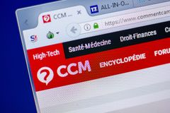 梁赞,俄罗斯- 2018年6月05日:Commentcamarche网站主页个人计算机, URL - Commentcamarche显示的  净额 图库摄影