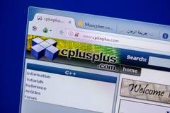 梁赞,俄罗斯- 2018年6月05日:Cplusplus网站主页个人计算机, URL - Cplusplus显示的  com 免版税库存照片