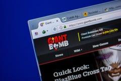 梁赞,俄罗斯- 2018年6月05日:GiantBomb网站主页个人计算机, URL - GiantBomb显示的  com 库存图片
