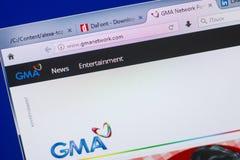 梁赞,俄罗斯- 2018年5月13日:GMA个人计算机, URL - GMAnetwork显示的网络网站  com 免版税库存照片