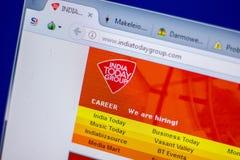 梁赞,俄罗斯- 2018年6月05日:IndiaTodayGroup网站主页个人计算机, URL - IndiaTodayGroup显示的  com 库存照片