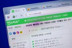 梁赞,俄罗斯- 2018年6月05日:Instiz网站主页个人计算机, URL - Instiz显示的  净额 库存图片