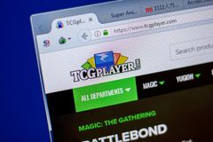 梁赞,俄罗斯- 2018年6月05日:TCGplayer网站主页个人计算机, URL - TCGplayer显示的  com 免版税图库摄影