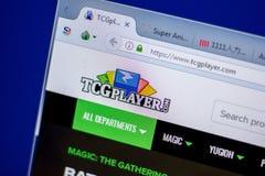 梁赞,俄罗斯- 2018年6月05日:TCGplayer网站主页个人计算机, URL - TCGplayer显示的  com 库存照片