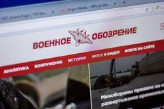 梁赞,俄罗斯- 2018年6月05日:TopWar网站主页个人计算机, URL - TopWar显示的  ru 免版税库存图片