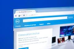 梁赞,俄罗斯- 2018年3月28日- Dell主页在个人计算机显示,网地址-小山谷的 com 免版税库存图片