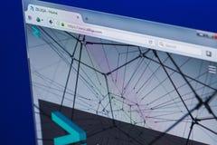 梁赞,俄罗斯- 2018年3月29日- Zilliqa隐藏货币,网地址- zilliqa主页在个人计算机显示的 com 免版税图库摄影