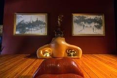 梅・蕙丝屋子在大理剧院在菲盖尔,在卡塔龙尼亚,温泉 库存照片