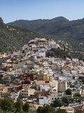 梅克内斯,摩洛哥的风景镇外部 免版税图库摄影