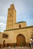 梅克内斯,摩洛哥- 2017年3月04日:在Mekn边缘的清真寺 免版税库存照片