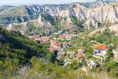 梅利尼克镇保加利亚 免版税库存图片