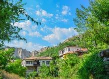 梅利尼克,保加利亚老镇  库存照片