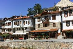 梅利尼克,保加利亚- 2017年9月7日:19世纪的老房子在梅利尼克,保加利亚镇  免版税库存照片