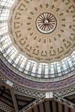 梅尔卡多中央主要市场,巴伦西亚,西班牙圆顶  免版税库存照片