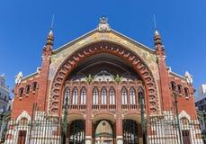 梅尔卡多冒号市场大厅的门面在巴伦西亚 库存图片