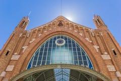 梅尔卡多冒号市场大厅的门面在巴伦西亚 库存照片