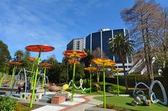 梅尔思公园操场在奥克兰新西兰 免版税图库摄影