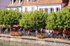 梅尔斯堡美丽如画的城镇Constance湖的  免版税库存图片