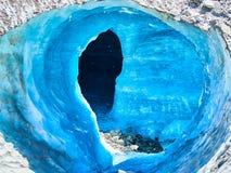 梅尔de Glace冰川洞,夏慕尼,法国 图库摄影