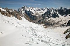 梅尔de Glace (冰海) 图库摄影