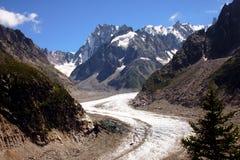 梅尔de Glace -法国阿尔卑斯 库存照片