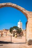 梅德宁(突尼斯) :传统Ksour (巴巴里人被加强的粮仓 库存图片