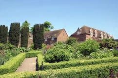 梅德斯通的,肯特,英国,欧洲里氏古堡Culpepper庭院 库存照片