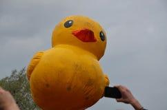 梅德韦杰夫在奇特的集会的` s鸭子2017年6月12日在圣彼德堡 图库摄影