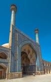 贾梅或伊斯法罕,伊朗星期五清真寺  库存照片