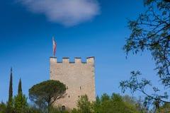 梅拉诺,南蒂罗尔,意大利散步  南Tyrol& x27; s历史大厦 图库摄影