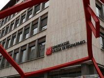 梅拉诺,特伦托自治省,意大利 r Sparkasse大厦 库存图片