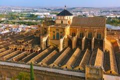 梅斯基塔全景在科多巴,西班牙 免版税库存图片