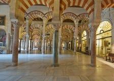 梅斯基塔,科多巴,西班牙的曲拱 免版税库存照片