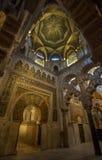 梅斯基塔Catedral内部在科多巴,西班牙 免版税库存照片