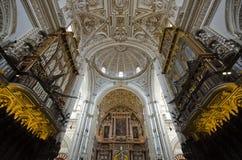 梅斯基塔Catedralin科多巴内部  库存图片