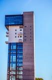 梅斯特雷,意大利- 2016年8月22日:城市大厦著名建筑纪念碑和门面在梅斯特雷特写镜头的 免版税图库摄影