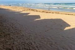 梅曾贝赫海滩 免版税库存图片