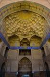 贾梅清真寺的入口在Irsfahan,伊朗 免版税库存照片