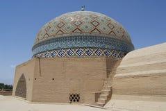 贾梅清真寺的圆屋顶,亚兹德,伊朗 库存照片