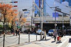 梅田大阪街道视图日本的 免版税库存照片