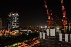 梅田,大阪日本夜视图  免版税库存图片