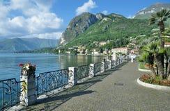 梅纳焦,科莫湖,伦巴第,意大利散步  免版税库存照片