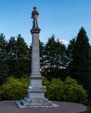 梅肯县同盟者纪念碑 免版税库存图片