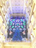 梅西百货公司传统圣诞灯展示 免版税库存照片