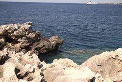 梅诺卡岛海岸线  库存照片